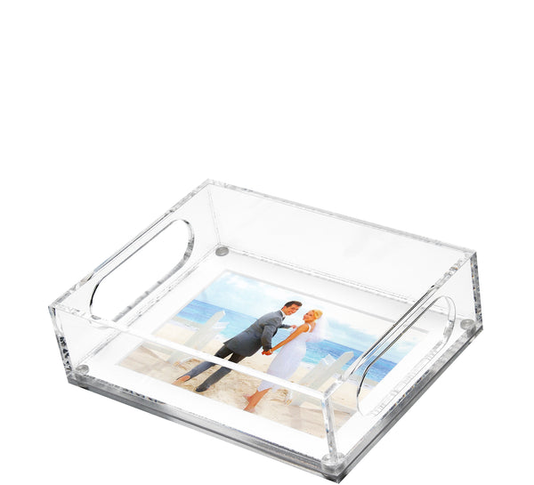 Square Tray with white mat