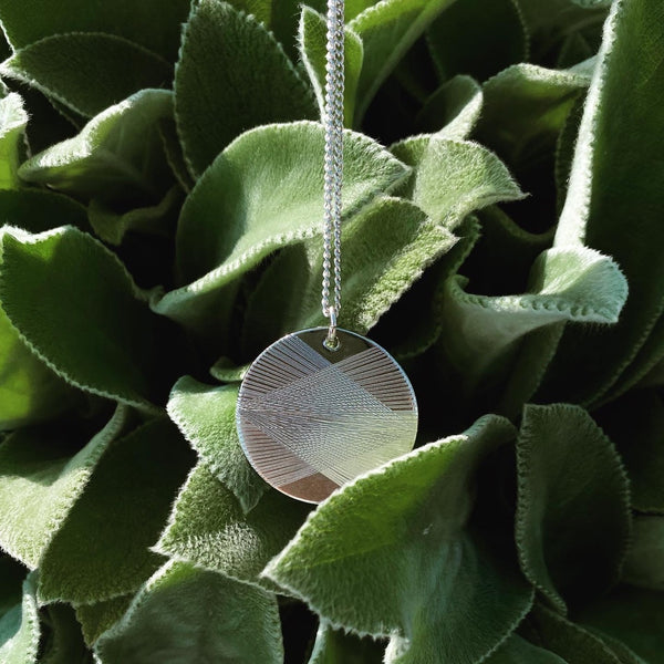 ARIANNA Geometric Disc Necklace - 1.5""