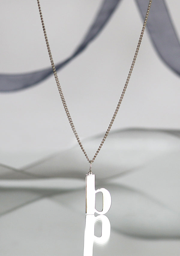 B BOLD Initial Necklace