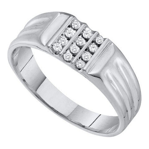 Giu Giu Jewelry Men's White Gold Cluster Diamond Ring
