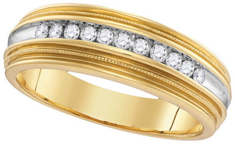Giu Giu Jewelry Men's 10kt Gold  Circle Cluster Diamond Ring