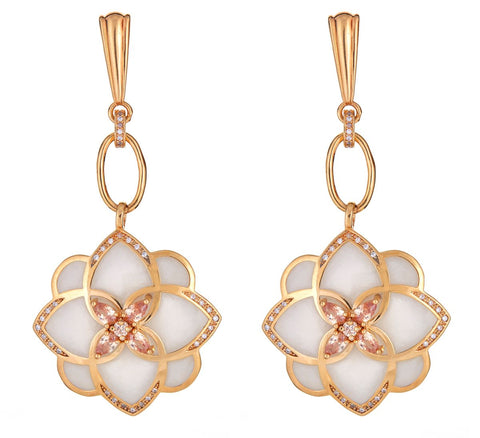 Cristina Sabatini Champagne Flower Earrings