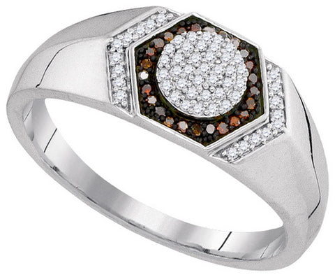 Giu Giu Jewelry Men's 10kt Gold Red Diamond Ring