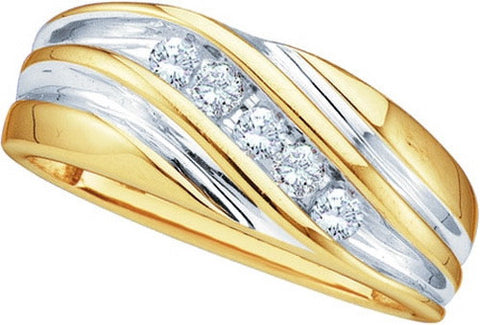 Giu Giu Jewelry Men's 10kt Gold Cluster Diamond Ring