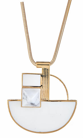 Cristina Sabatini Picasso White Necklace
