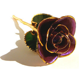 Purple 24KT Gold Dipped Rose Made in USA - Giu Giu Boutique  - 1