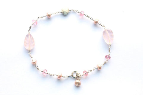 Giu Giu Semi-Precious Sterling Silver Breast Cancer Bracelet - Giu Giu Boutique