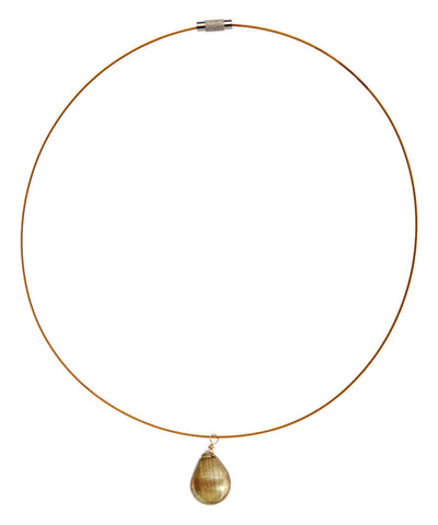 Hand Made Drop Citrine Choker on Stainless Steel Wire - Giu Giu Boutique