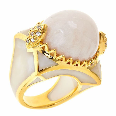 Cristina Sabatini Pavone Dome Pillow Ring - Giu Giu Boutique