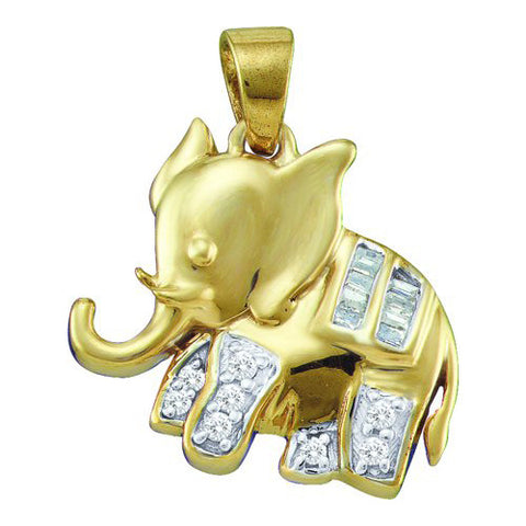 Giu Giu Jewelry Women's 10kt Gold and Diamond Elephant Pendant - Giu Giu Boutique