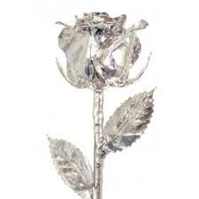 Sterling Silver Dipped Rose Made in USA - Giu Giu Boutique  - 1