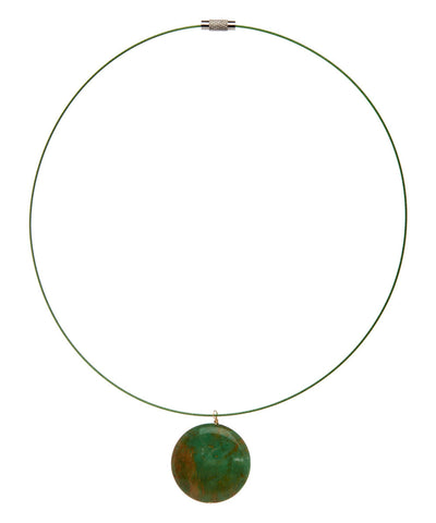 Hand Made Jade Choker on Stainless Steel Wire - Giu Giu Boutique