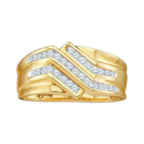 Giu Giu Jewelry Men's 10kt Gold Cluster Diamond Ring - Giu Giu Boutique
