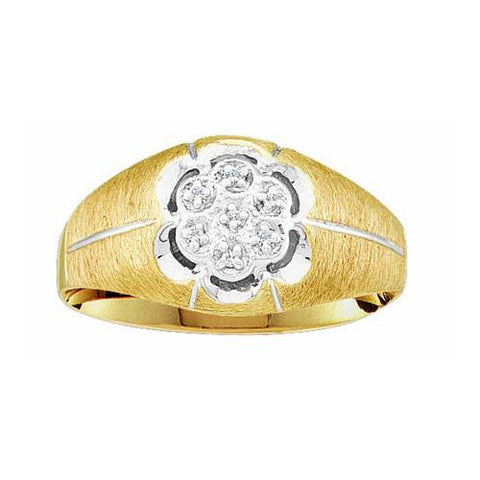 Giu Giu Jewelry Men's Gold Cluster Diamond Ring - Giu Giu Boutique