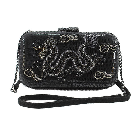 Mary Frances Dragon Slayer Black Handbag