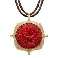 Cristina Sabatini Red Dragon Necklace - Giu Giu Boutique