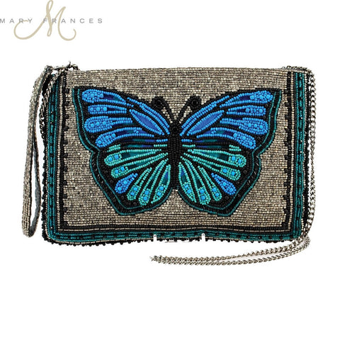 Divine Grace Beaded Butterfly Shoulder Bag