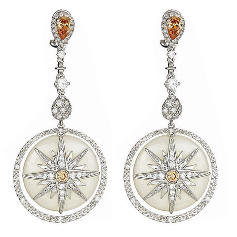 Cristina Sabatini Twinkle Star White Earrings - Giu Giu Boutique