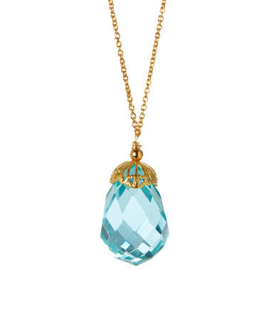 Giu Giu Semi-Precious Sterling Silver Blue Topaz Necklace - Giu Giu Boutique