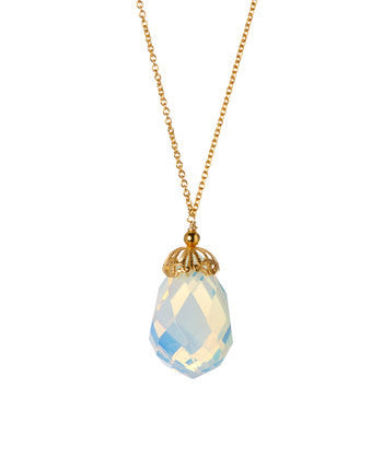 Giu Giu Semi-Precious Sterling Silver Goddess Drop Opal Necklace - Giu Giu Boutique