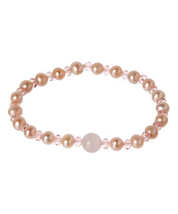 Giu Giu Semi-Precious Sterling Silver Breast Cancer Bracelet - Giu Giu Boutique  - 1