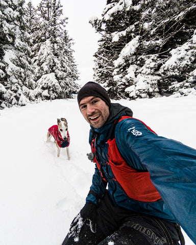 Peter Koraca and Kai in the snow – Pohorje, Slovenia