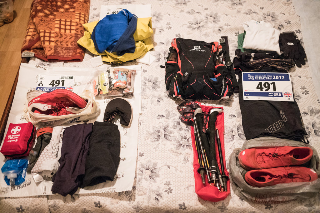 Istria 110km Ultra trail run gear 2017