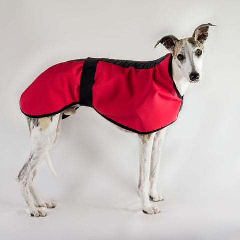 Waterproof with Fleece Lining Dog Coat for Whippets, Dachshunds & all dogs