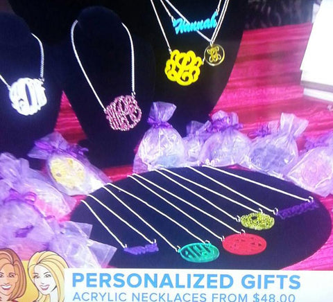 Personalized Acrylic Jewelry - The Today Show