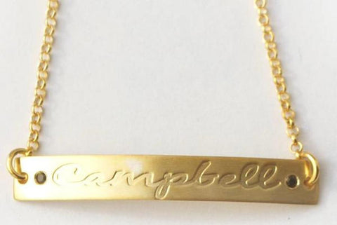 Personalized ID Bracelet - Birthstone