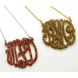Acrylic Monogram Necklace - Glitter