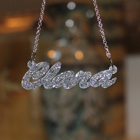 Acrylic Name Necklace - Cursive