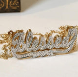 Beaded Double Plated Name Necklace 3
