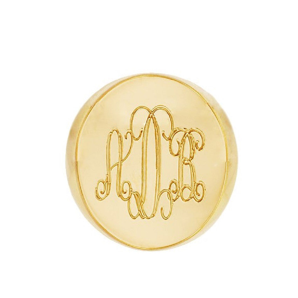 Gold Monogram Signet Ring