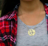 Monogram Necklace - Gold Fancy Script 3