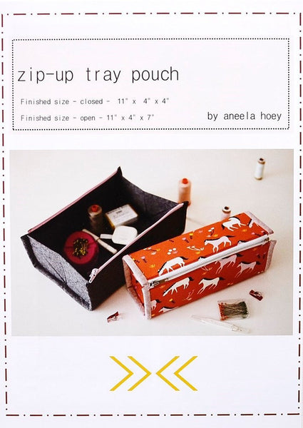 Zip-up Tray Pouch - Printed Pattern