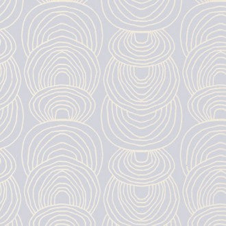 Cloud9 Rain Walk Organic Cotton Canvas - Ripple in Gray