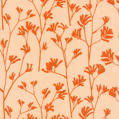 Cloud9 Landscape Organic Cotton - Kangaroo Paw Orange