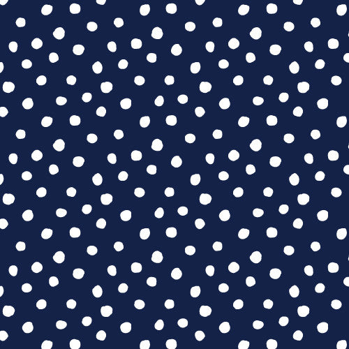 Cloud9 Organic Cotton Knit - Navy Spots