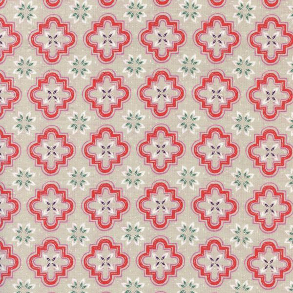Honeymoon Porch Tile in Coral