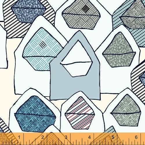 Great Mail Day Envelope Fabric - Paper Obsessed by Heather Givans at Spool Pittsurgh