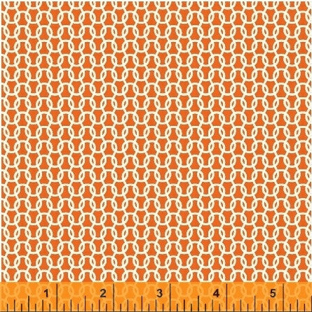 Uppercase Knitted Fabric in Orange - Spool Pittsburgh