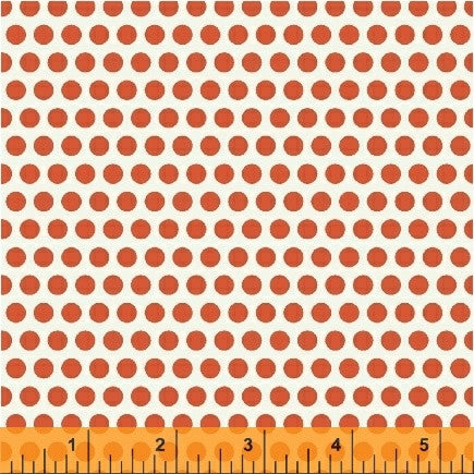 Uppercase Dotty Fabric in Orange - Spool Pittsburgh