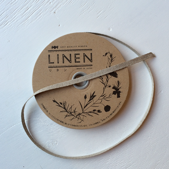 Natural Linen Twill Ribbon at Spool fabric shop Pittsburgh