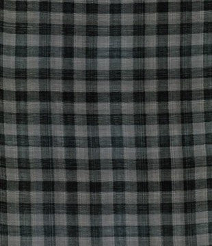 Organic Cotton Gingham Double Gauze Black Gray Double-Sided at Spool Pittsburgh