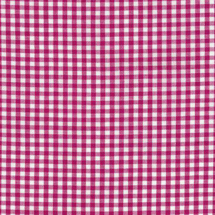 Classic carolina gingham check fabric in Fuchsia pink at Spool Pittsburgh