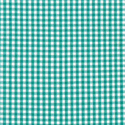 Classic carolina gingham check fabric in Jade green at Spool Pittsburgh