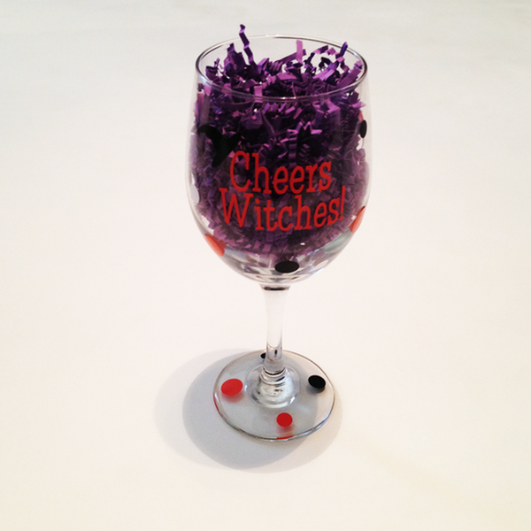 Cheers Witches Wine Glass