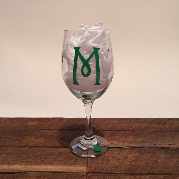 Initial Wine Glass