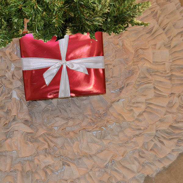 Ruffle Chritmas Tree Skirt